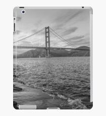 Black and White Golden Gate Bridge iPad Case/Skin