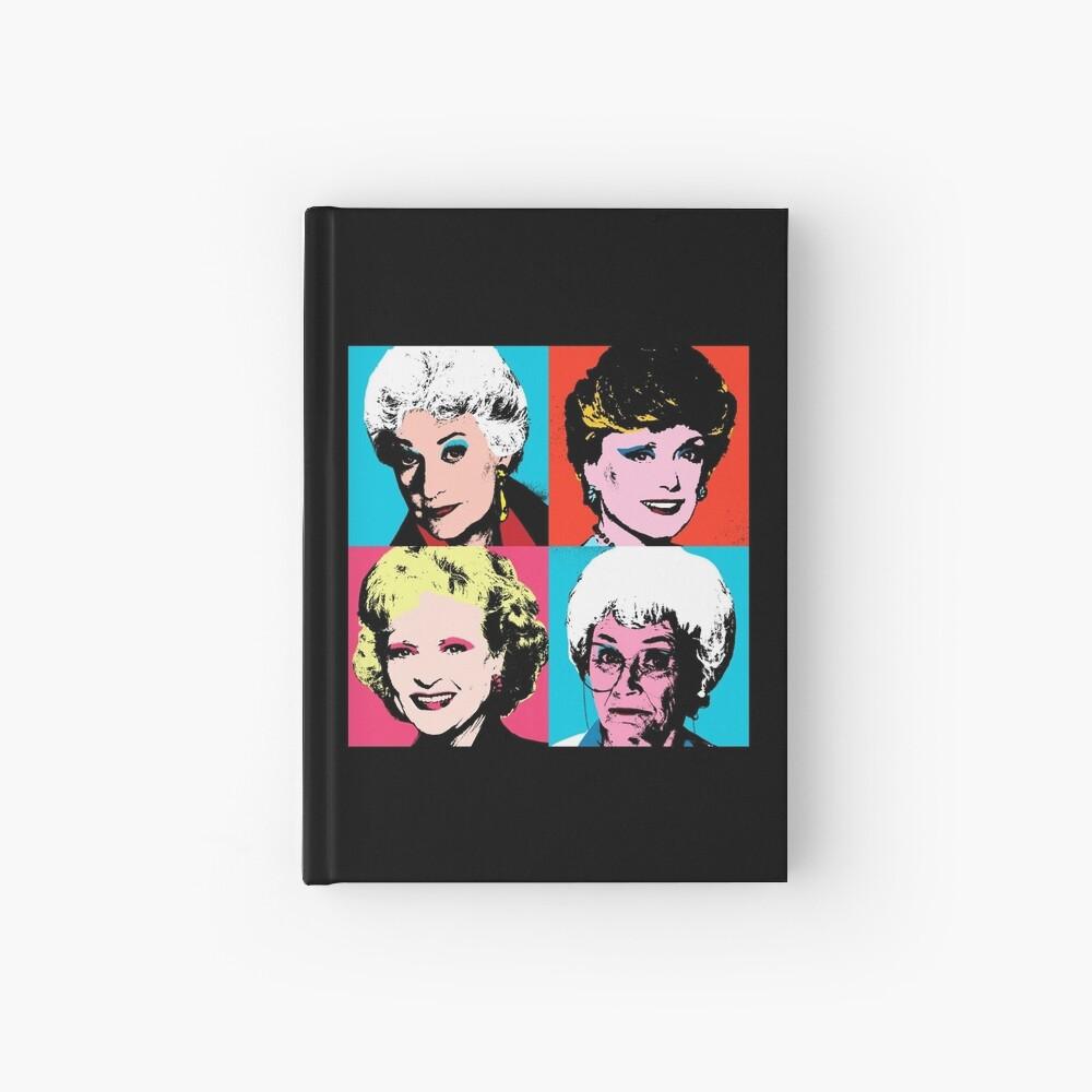 Golden Warhol Girls Hardcover Journal