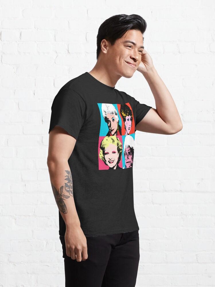 Alternate view of Golden Warhol Girls Classic T-Shirt
