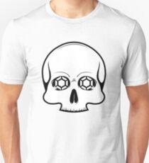 Defy Danger Skull - White Unisex T-Shirt