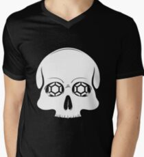 Defy Danger Skull - Black Men's V-Neck T-Shirt