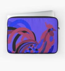 Rooster Abstract Art Blue iPad Cover Laptop Sleeve