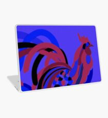 Rooster Abstract Art Blue iPad Cover Laptop Skin