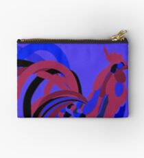 Rooster Abstract Art Blue iPad Cover Studio Pouch
