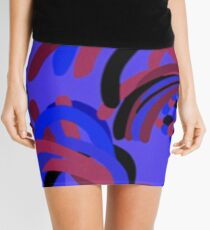 Rooster Abstract Art Blue iPad Cover Mini Skirt
