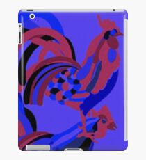Rooster Abstract Art Blue iPad Cover iPad Case/Skin
