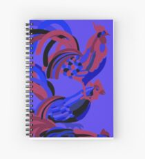 Rooster Abstract Art Blue iPad Cover Spiral Notebook