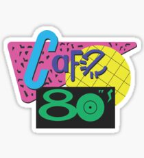 Cafe 80s Back to the Future Sticker