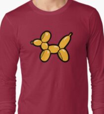 Balloon Animal Dogs Pattern in Red T-Shirt