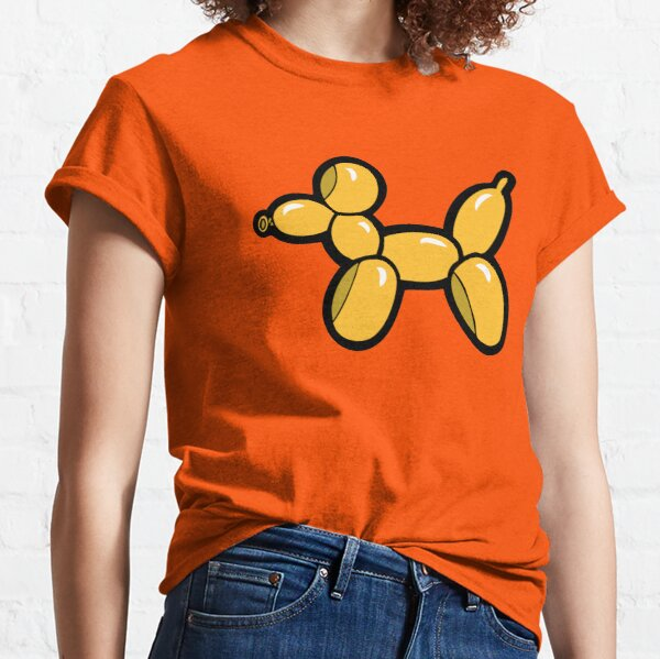 Balloon Animal Dogs Pattern in Red Classic T-Shirt