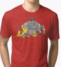 Rick and Morty Crash Gag Tri-blend T-Shirt