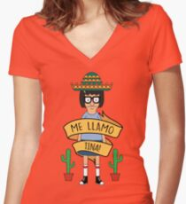 ME LLAMO TINA! Women's Fitted V-Neck T-Shirt