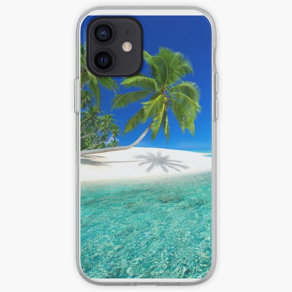 Postcard from the Anse Lazio beach - Praslin island, Seychelles iPhone Soft Case