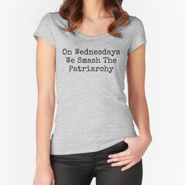 Feminist, On Wednesdays We Smash The Patriarchy Fitted Scoop T-Shirt