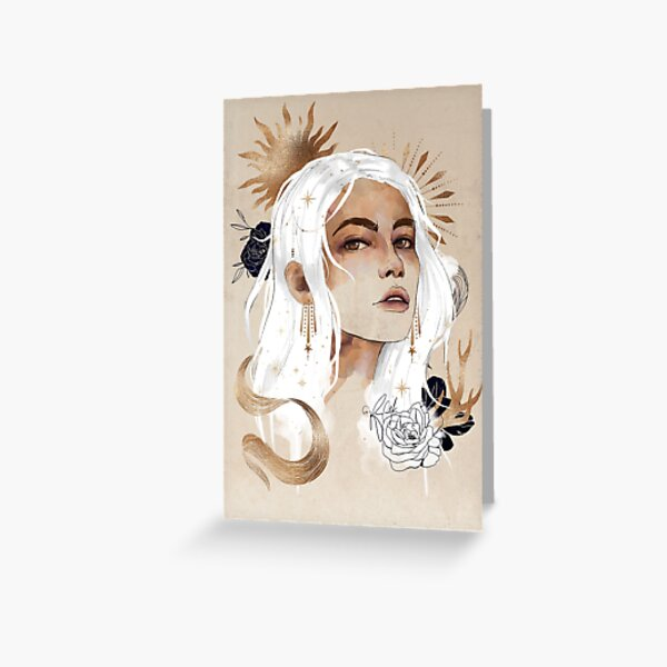 Celestial Alina Greeting Card