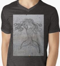 Mermaid Sand Drawing Men's V-Neck T-Shirt