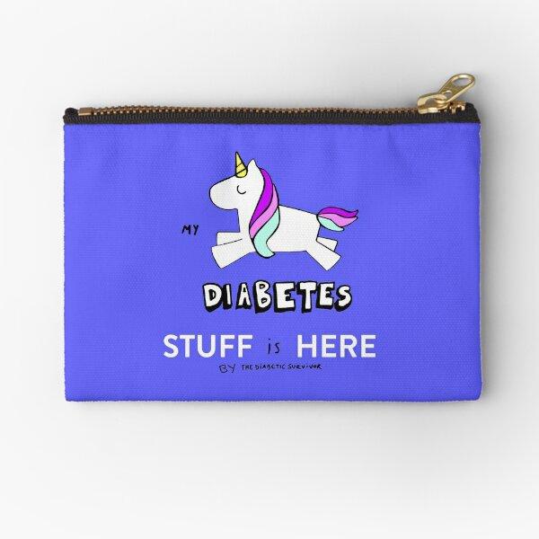 Diabetes: My DIABETES stuff is here Zipper Pouch