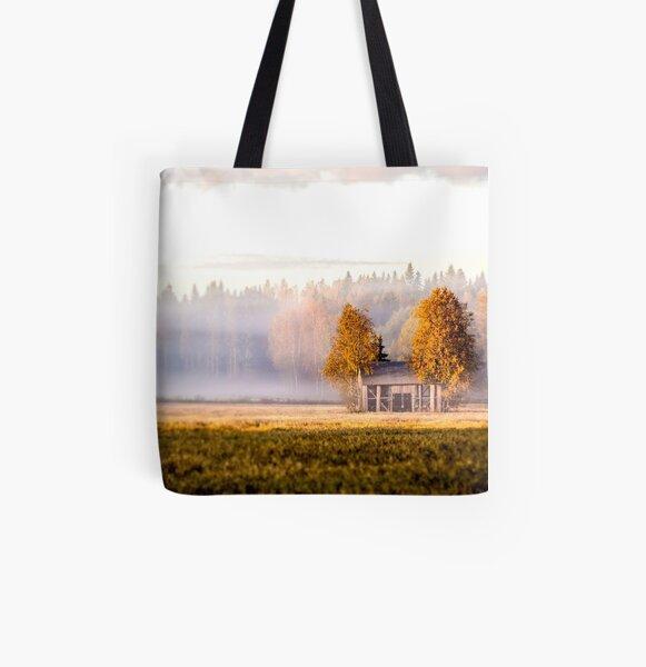 Sleepless sunrise - barn All Over Print Tote Bag