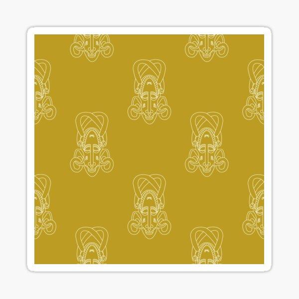 Senufo Mask pattern sexies - Ivory Coast Sticker