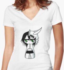 Chibi Ulquiorra Women's Fitted V-Neck T-Shirt