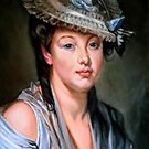 Young Woman in a White Hat after Jean-Baptiste Greuze by Hidemi Tada