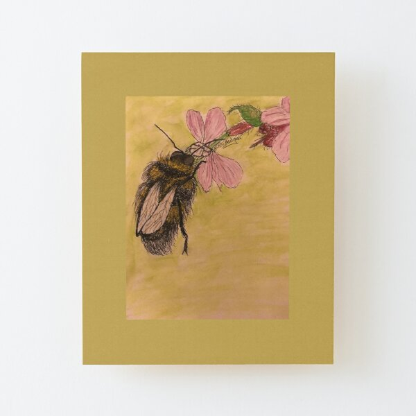 Busy Bumble Bee Wood Mounted Print