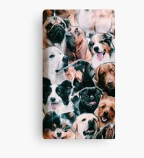 doggy collage  Canvas Print