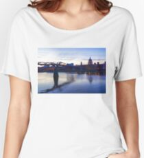 Impressions of London in Purple Women's Relaxed Fit T-Shirt