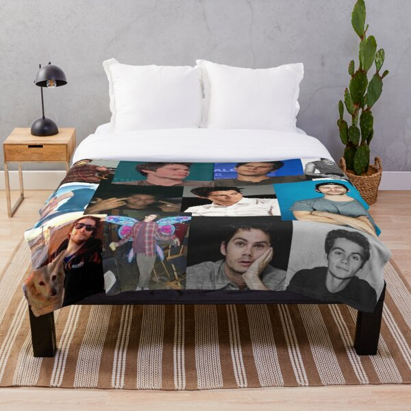 Dylan O'Brien pic collage Throw Blanket