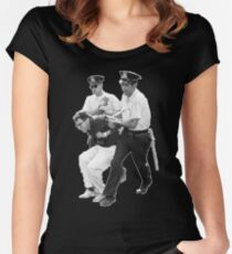Bernie Arrested 1963 Women's Fitted Scoop T-Shirt