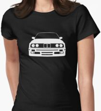 White e30 Womens Fitted T-Shirt