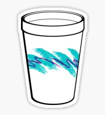 Solo Jazz Cup 90s Pattern - With Cup (white) Sticker