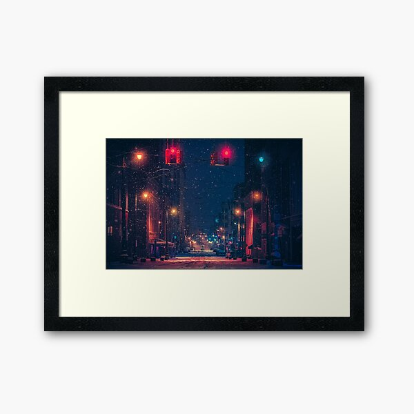 Madison - Memphis Tennessee Night Photography Framed Art Print