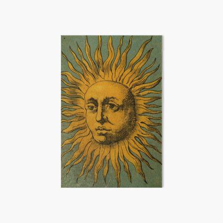 Vintage Sun Tarot Art Board Print