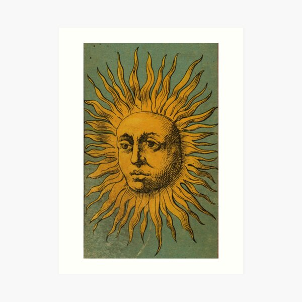 Vintage Sun Tarot Art Print