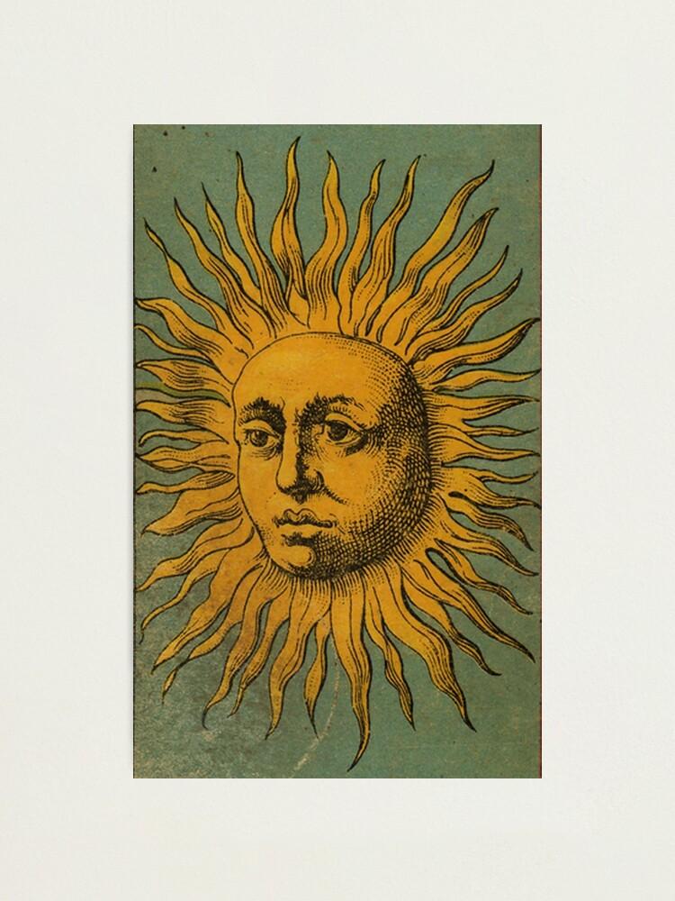 Alternate view of Vintage Sun Tarot Photographic Print