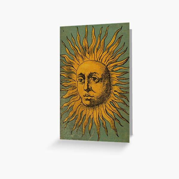 Vintage Sun Tarot Greeting Card