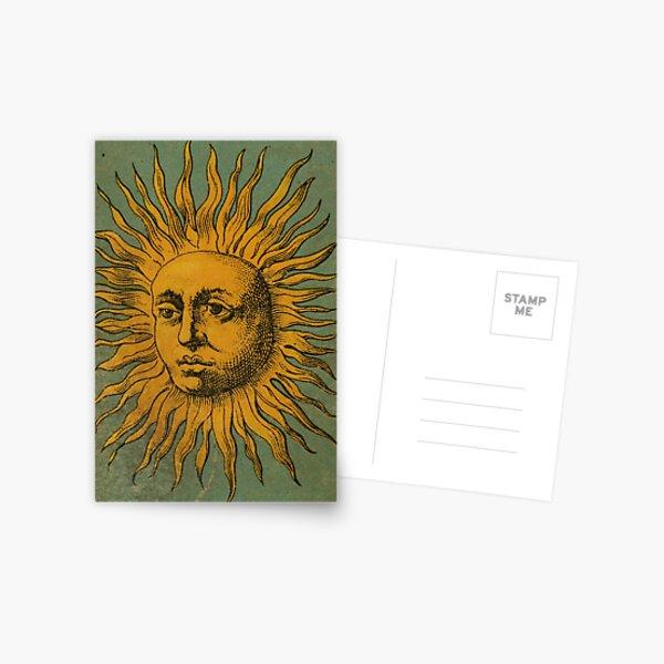 Vintage Sun Tarot Postcard