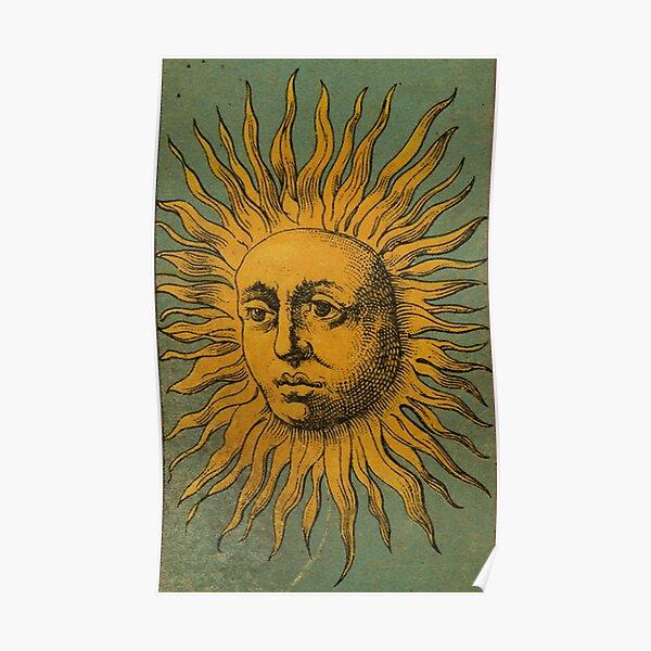 Vintage Sun Tarot Poster