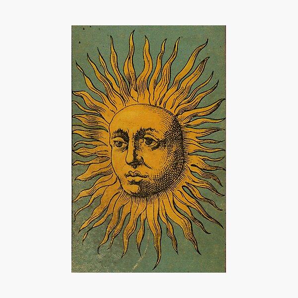 Vintage Sun Tarot Photographic Print