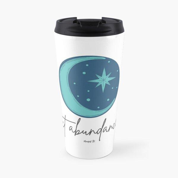 Manifest It! Abundance Moon Blue Travel Mug