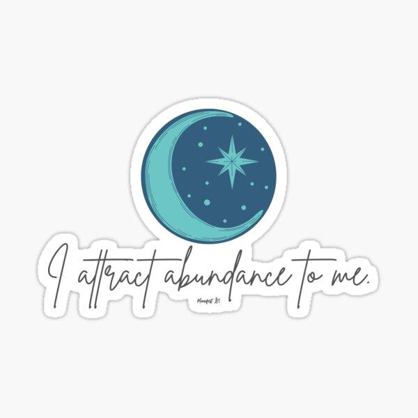 Manifest It! Abundance Moon Blue Sticker