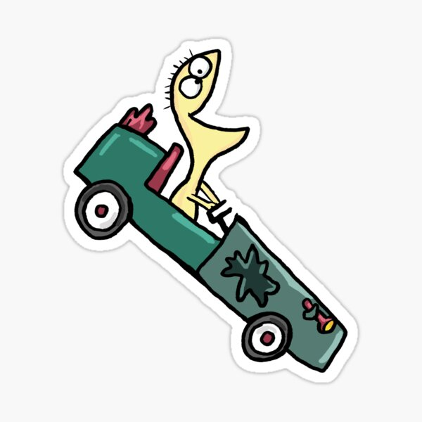 Foster's Home for Imaginary Friends Cheese in Go Kart Sticker