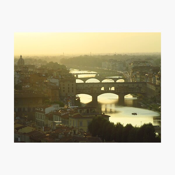 Golden Hour in Florence Photographic Print