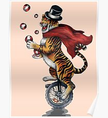 Juggling Tiger Poster