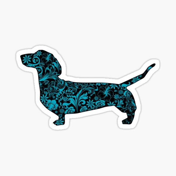 Dachshund blue Sticker