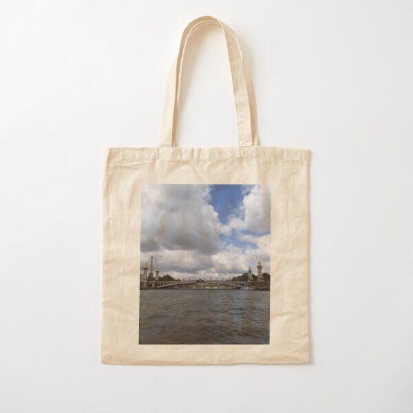 On the Water in Paris Cotton Tote Bag