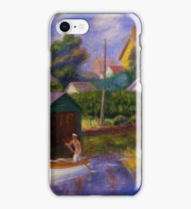 William Glackens - Washington Square  iPhone Case/Skin