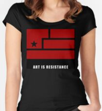 AIR -Art Is Resistance Women's Fitted Scoop T-Shirt
