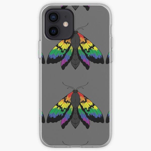 Polilla del orgullo arcoiris Funda blanda para iPhone
